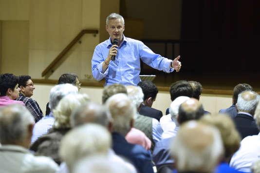 Bruno Le Maire, lors d'un meeting des Républicains en juin 2015.  AFP PHOTO / PASCAL PAVANI