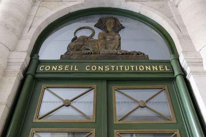 Le Conseil constitutionnel, à Paris.