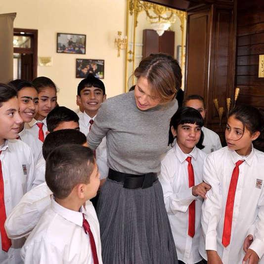 Asma Al-Assad, sur une photo diffusée par le régime de Damas.