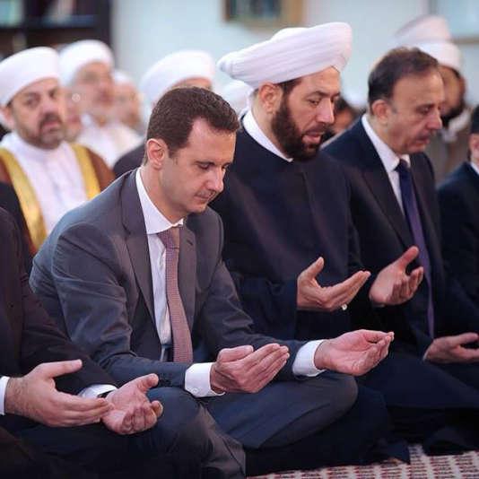 Photographie publiée le 17 juillet sur le compte Instagram de la présidence syrienne, montrant Bachar Al-Assad, le jour de l'Aïd.