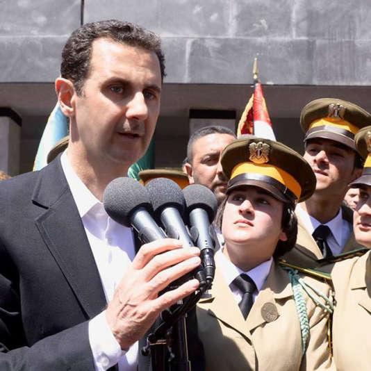 Bachar Al-Assad, sur une photo diffusée par le régime de Damas.