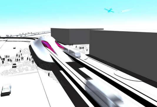 Projet de métro aérien à Miami de l'architecte David Tajchman.