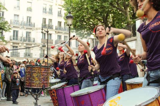 Timbao au pied du Sacré Coeur à Paris, Fête de la musique 2013.