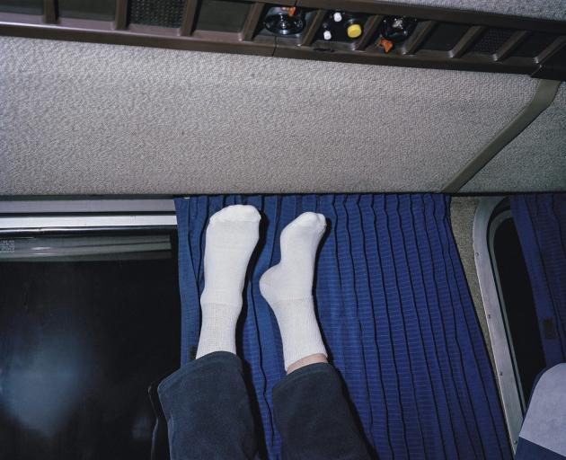Passager d'unwagon-lit,durantla deuxièmenuit du trajetOakland Chicago.