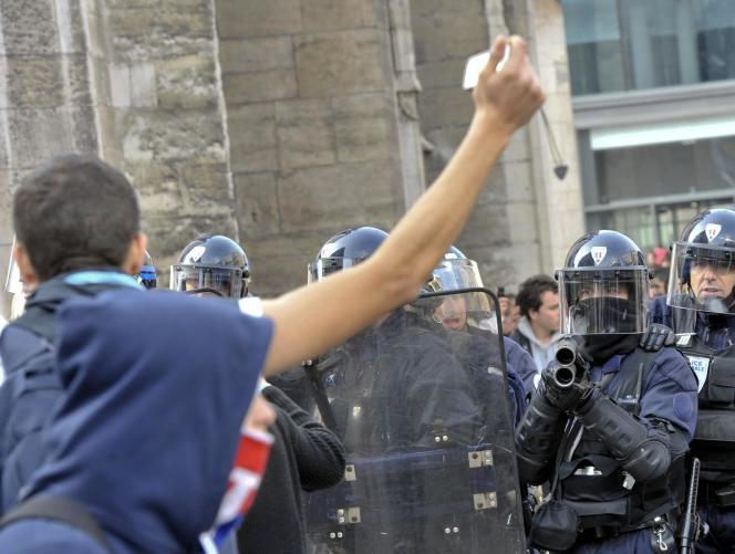 Une manifestation de lycéens, en octobre 2010, à Lyon.