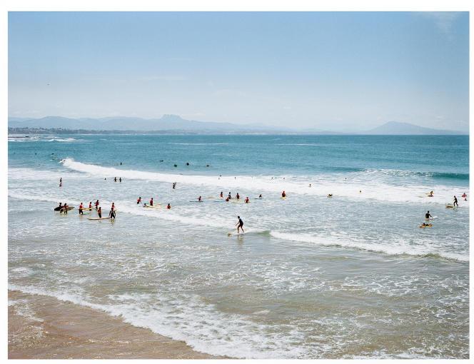 La spectaculaire Côte des Basques, à Biarritz. Le spot, connu du monde entier, est noir de surfeurs le week-end. Un sort que veulent éviter les habitués de Tarnos.