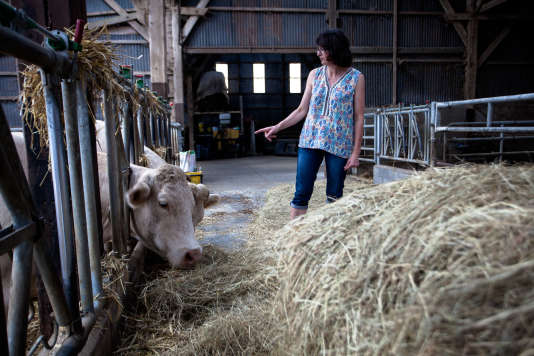 Nathalie Brouant, agricultrice dans l'Eure.