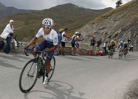 Nairo Quintana lors de la 17e étape le 22 juillet.