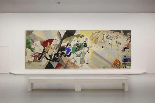 """""""Introduction au théâtre juif"""" de Marc Chagall. Galerie nationale Tretiakov / © ADAGP, Paris 2015."""