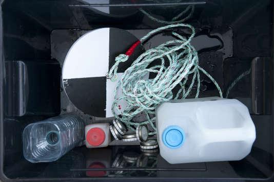 Matériel de prélèvement de plancton.