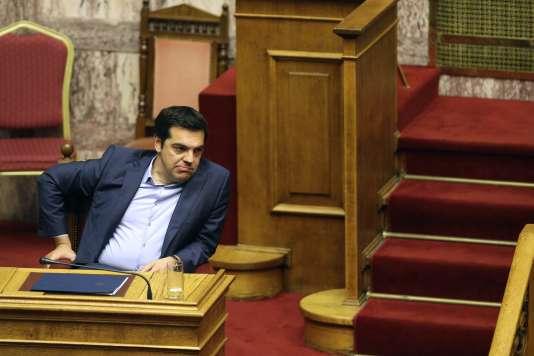 Alexis Tsipras, au Parlement grec, à Athènes, le 23juillet.