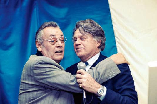 Jean Roucas (à gauche) au côté de Gilbert Collard, député FN, en 2014.