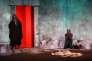 """Ahmed Benaissa et  Anna Andreotti  dans la pièce """"Meursaults"""", mise en scène par Philippe Berling,  le 20 juillet 2015 lors du Festival d'Avignon."""