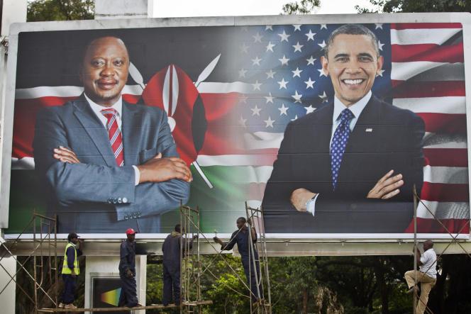 Affiche pour la visite du président américain Barack Obama au Kenya, le 23 juillet 2015.