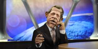 La marionnette de l'ancien présentateur du JT de TF1, Patrick Poivre d'Arvor a été « le visage » des « Guignols».