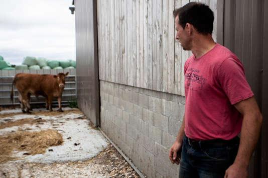 Christophe Couillard, agriculteur, éleveur bovin à Mézières-en-Vexin dans l'Eure.
