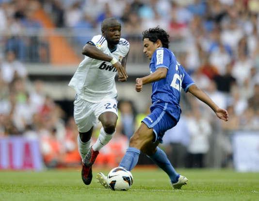 Lassana Diarra, sous les couleurs du Real Madrid en 2012.