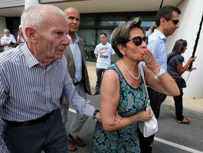 Les parents de Vincent Lambert, Viviane et Pierre Lambert, à Reims, le 23 juillet 2015.