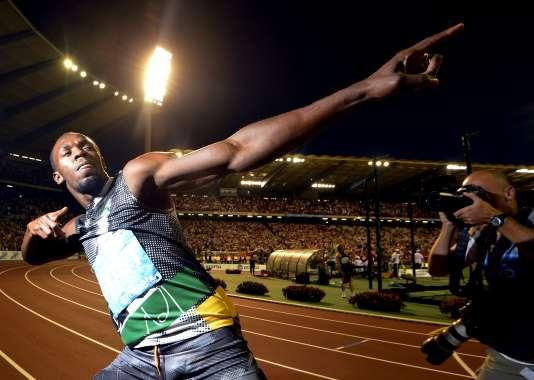 Usain Bolt, en 2012 à Bruxelles.