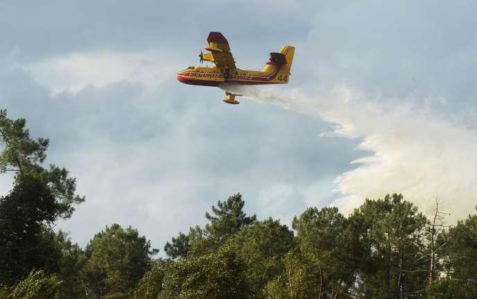 Quelque 300 sapeurs-pompiers et une centaine de véhicules sont mobilisés. Des moyens aériens ont de nouveau été demandés, les deux Canadair qui étaient intervenus dans la matinée ayant été envoyés sur un autre départ de feu, à Naujac-sur-Mer.