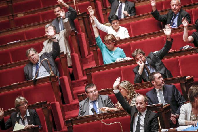 Lors du vote des amendements sur la loi relative au renseignement, à l'Assemblée nationale, le 24 juin.