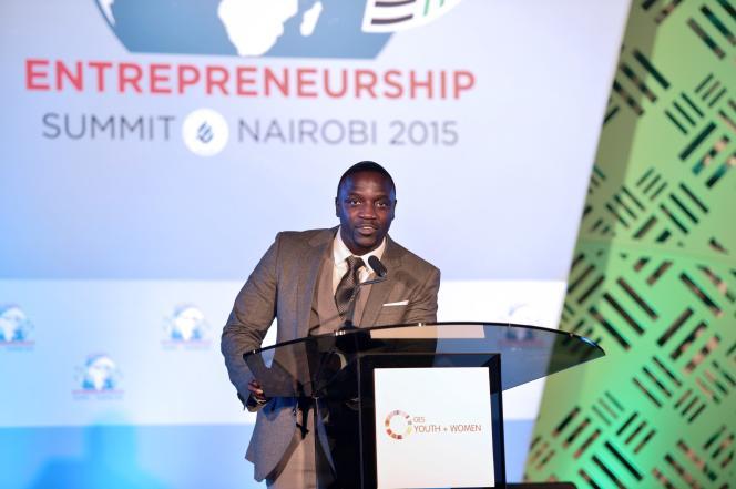 Akon, au Sommet Global de l'Entrepreneuriat, à Nairobi, le 24 juillet 2015.