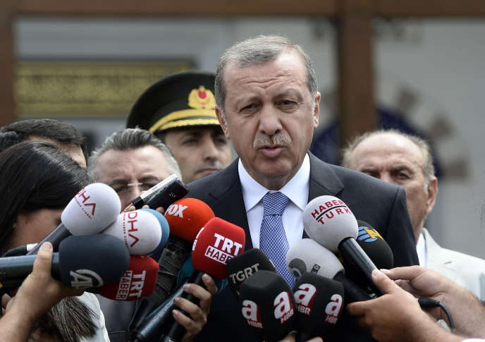 Recep Tayyip Erdogan, le 27 juillet à Istanbul.