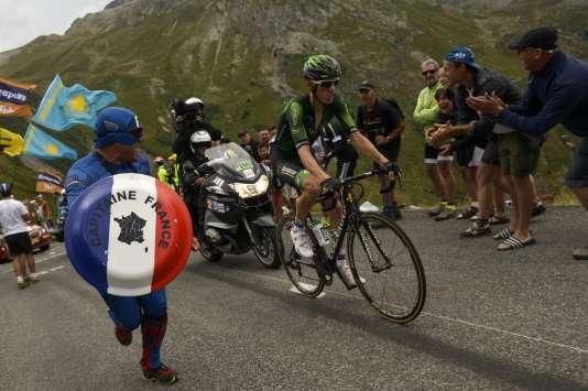 Pierre Rolland, le 24 juillet, lors de la 19e étape.