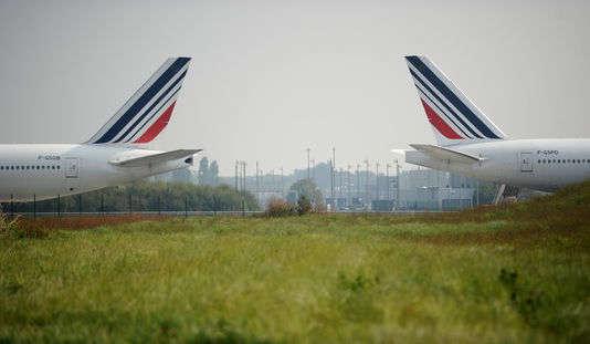 Des avions d'Air France, à l'aéroport de Roissy - Charles-de-Gaulle, en 2014.