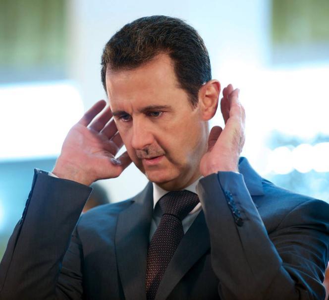 Le président syrien Bachar Al-Assad à Damas, le 17 juillet.