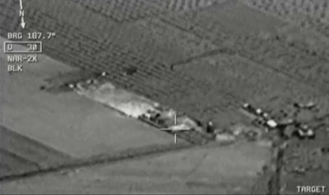 Des images des bombardements contre l'EI prises depuis un appareil turc le 24 juillet.