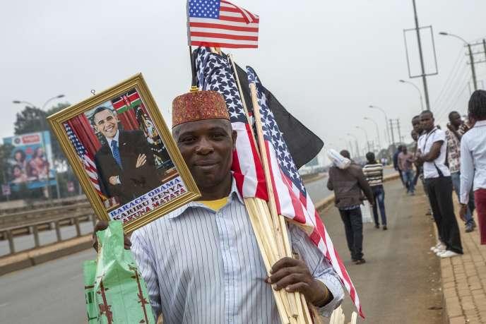 Lors de la visite d'Obama au Kenya, le 26 juillet.
