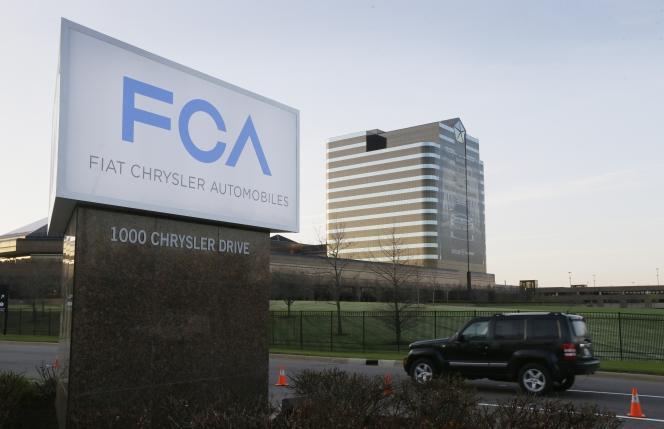 Le siège de Fiat Chrysler à  Auburn Hills, Michigan, aux Etats-Unis, en mars 2014.