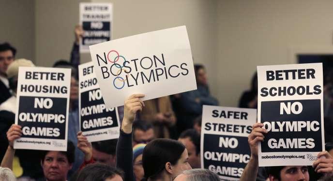 Des opposants à une candidature de Boston aux Jeux olympiques de 2024.