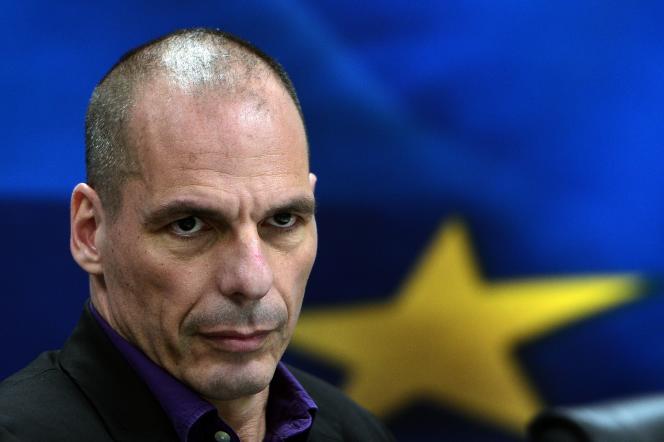 Yanis Varoufakis, le 4 mars à Athènes.     AFP PHOTO/LOUISA GOULIAMAKI