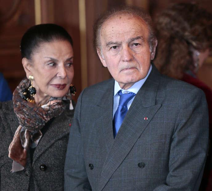 Samuel Pisar et sa femme à Paris, en octobre 2012.