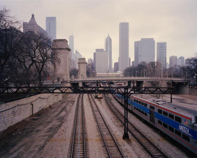Le train urbain de Chicago reliant le sud et l'est de la ville.