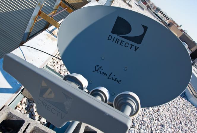 Une antenne satellite de DirecTV à Washington aux Etats-Unis en mai 2014.
