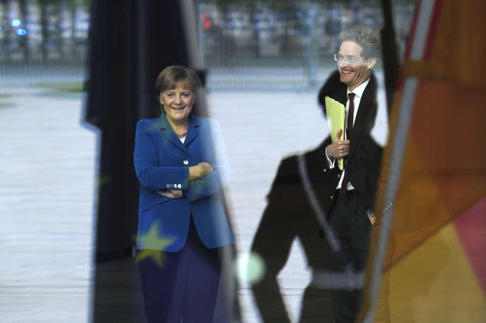 Angela Merke et Nikolaus Meyer-Landrut  à Berlin, en mai 2012.
