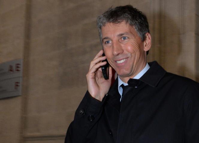 L'homme d'affaires Stéphane Courbit, ex-patron d'Endemol France et PDG de la société de production Banijay France, qui a annoncé le 27 juillet 2015 sa fusion avec Zodiak. AFP PHOTO / MEHDI FEDOUACH
