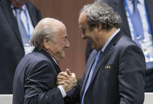 Sepp Blatter et Michel Platini (Patrick B. Kraemer/Keystone via AP, File)