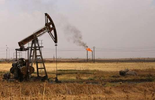 Le champ de pétrole de Rmeilane, en Syrie, en juillet.