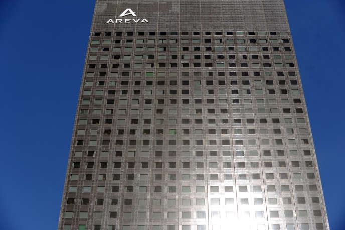 Le siège d'AREVA à La Défense près de Paris, le 7 mai 2015.