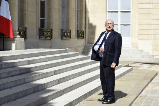 Le ministre des finances, Michel Sapin, à l'Elysée le 29 juillet.