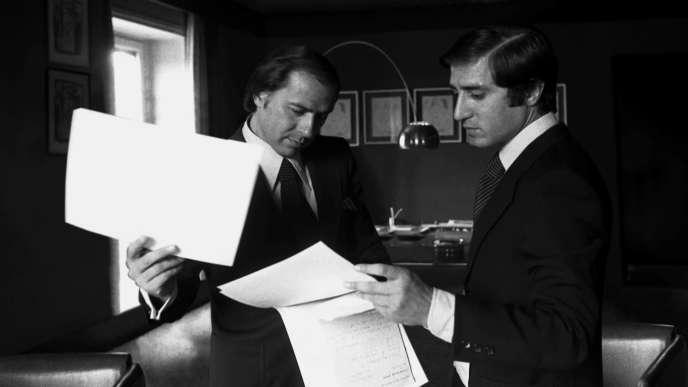 Berlusconi et Dell Utri en 1977.