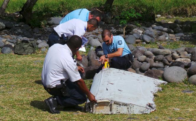 Le débris d'avion retrouvé à La Réunion, le 29 juillet.