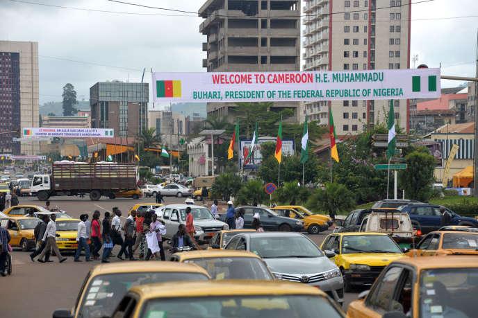 Dans le centre-ville de Yaoundé.