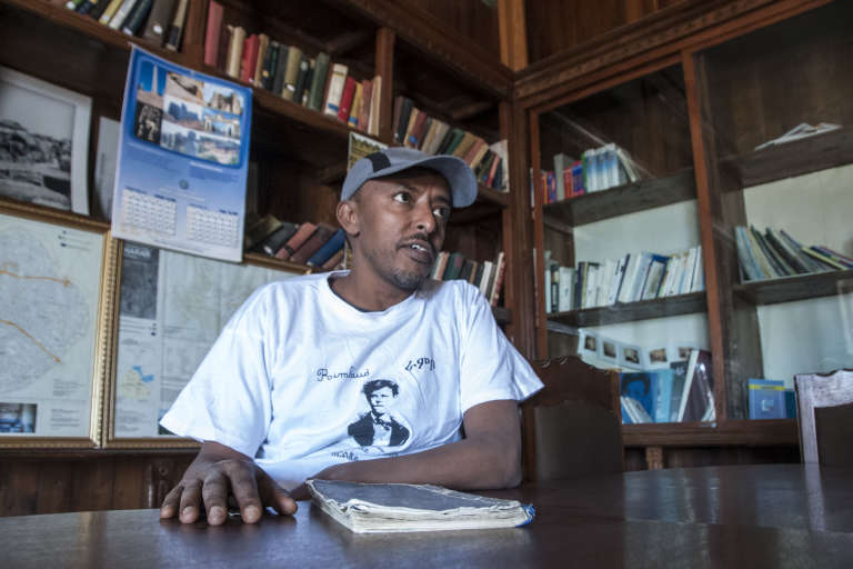 Abdulnasir Garad ne connaissait rien du poète avant de devenir le conservateur de la maison Rimbaud, à Harar.