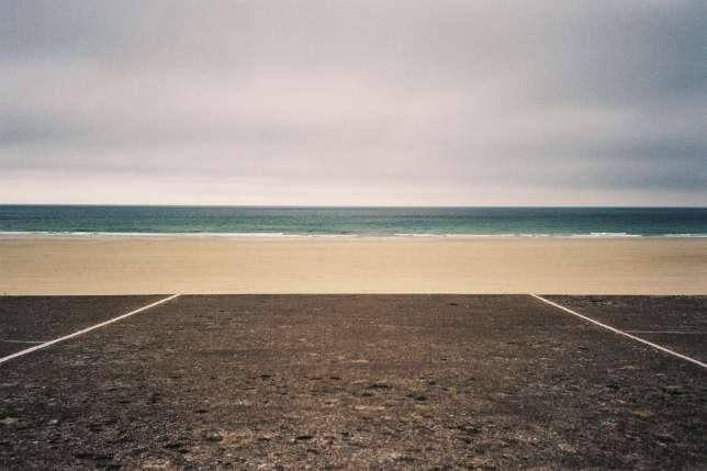 Sur une plage de La Hague.