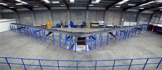 Le drone Aquila dévoilé par Facebook en juillet 2015, avant le début des tests.